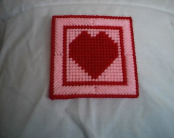 Pattern Plastic Canvas Valentine's Day Coaster PDF