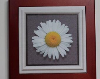Rosewood framed giclee flower print