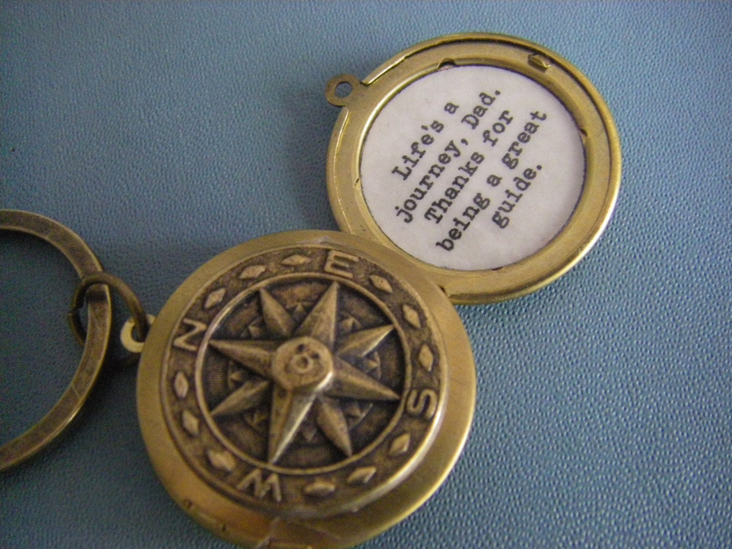 il listing day in a is lockets en fathers keychain quote journey zoom locket fullxfull life compass
