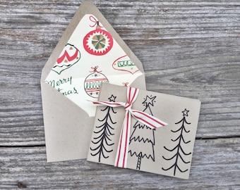 Christmas card set || holiday card set || handwritten
