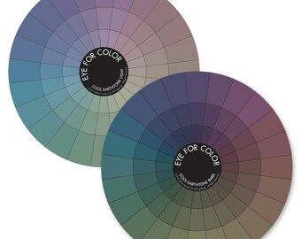 Color Wheels, Cool Earthtone Color Wheels, Eye For Color, color palette, color inspiration, colorwheel set
