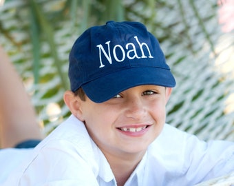 Boy's Navy Hat - Boy's Cap - Baseball Cap - Monogram Cap - Kid's Ball Cap - Personalized Cap - Navy Baseball Cap - Kid's Baseball Cap - Gift