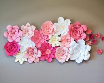 Paper flower template paper flower wall diy paper flower paper flower backdrop mightylinksfo