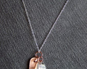 Quartz crystal necklace