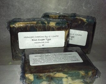 Blue Sugar Type Handmade Soap - Clearance