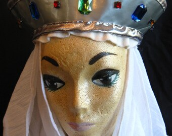 Gothic Headdress with Silver Crown