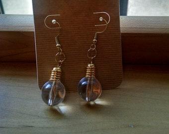 Bright bulb earrings