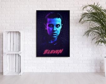 """Stranger Things """"Eleven"""" 80s inspired wall art"""