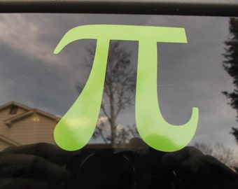 Pi  Lime Tree Green Vinyl Decal