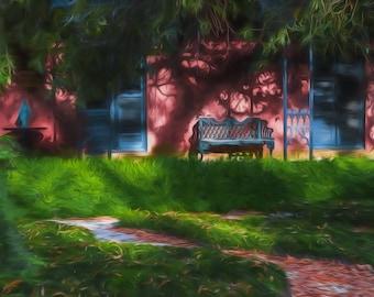 """Savannah Photography, Front Porch Print, Large Wall Art, Fine Art Photography, Savannah Historic District """"Savannah Morning"""""""