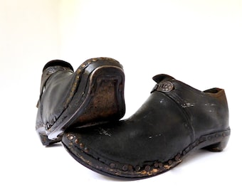 Very Old Clogs Devonshire or Lancaster: Clog Dancing, or Purring (Shin-Kick Fighting) Shoes