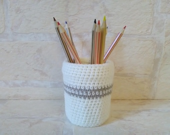 Ref.1626 crochet pencil holder