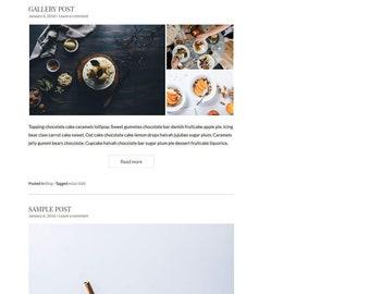 Eclair - Foodie Recipe Blog - WordPress Blog Theme - Feminine WordPress theme - Responsive WordPress theme - Website template