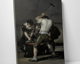 The Forge by Francisco Goya. Gallery Wrapped Canvas Print