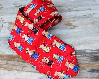 Teacher's Gift tie vintage silk tie silk Mouse tie Vintage Mens Necktie Men tie for groomsmen tie wedding neckties Mouse neckties
