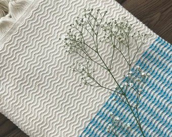 Organic Turkish Towels, Peshtemals, for her, gift for women, mother's day, bathroom decoration, bathstyle, pool, hammam, turquoise color
