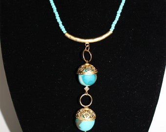 Eastern style three chandelier necklace
