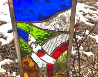 STAINED GLASS GARDEN Stake bright colors - beauty for your outdoor or indoor plants