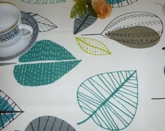 """Teal Blue Table Runner Modern Designer Cotton Over 6ft (2mts long-78"""")"""