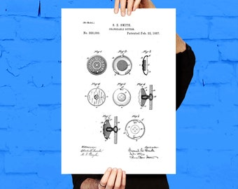 Button Patent, Button Poster, Button Blueprint,  Button Print, Button Art, Button Decor