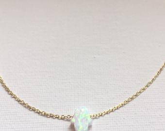 Opal Hamsa Gold filled Necklace
