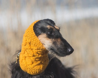 100% wool dog snood  // custom made hand knit dog snood // saluki // afghan hound // spaniel // all sizes