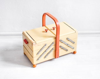 Sewing Box Wooden Jewelry Box Jewelry Organizer Jewelry