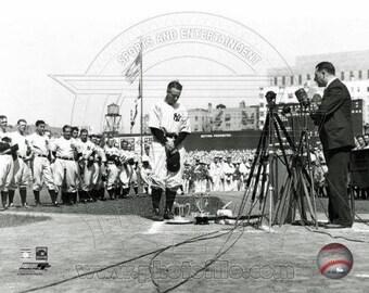 Lou Gehrig New York Yankees 8x10 Photo Yankee Stadium Farewell July 4, 1939 *Licensed* Photo