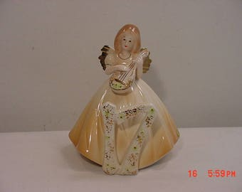 Vintage Josef Originals Seventeen Birthday Angel Figurine With Original Hang Tag   17 - 1110