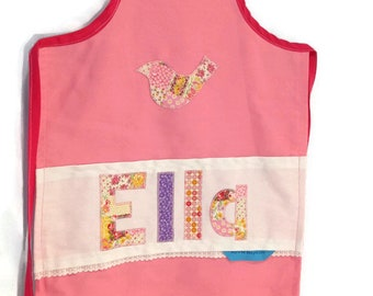 Personalised kids apron pale patch