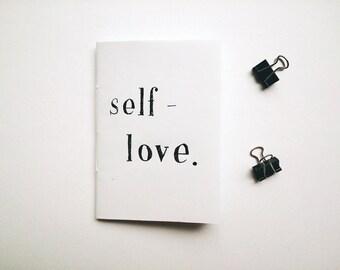 Zine: SELF-LOVE // poetry / prose / perzine // handmade zine / handwritten zine // journal excerpts