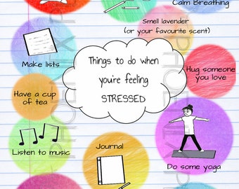 Things To Do When You're Feeling Stressed Postcard