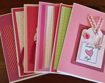 Breast Cancer Awareness Tag Art Greeting Card Set, For Her, Love and Encouragement, Inspiration Cards