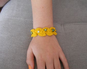 Bracelet crochet for mother's day