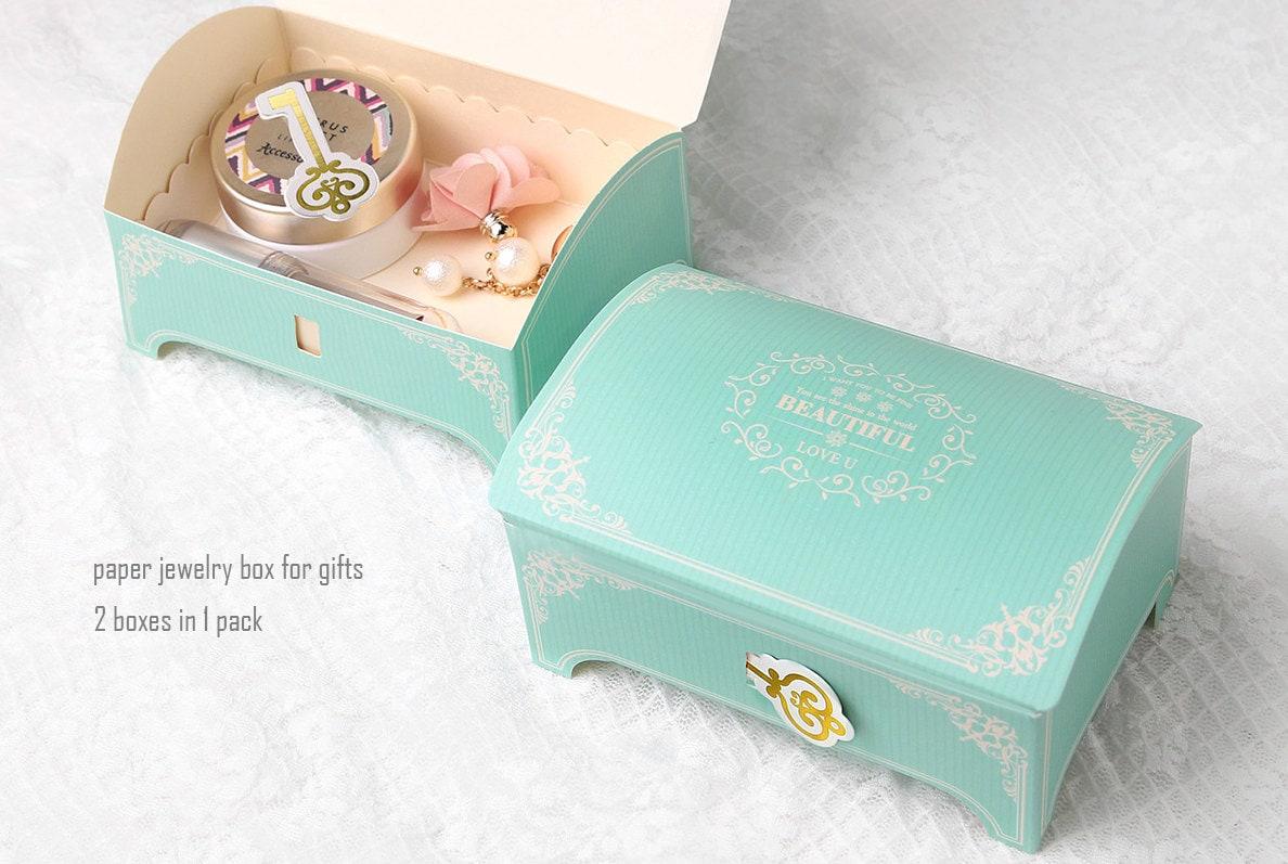 2 Paper jewelry gift boxesgift boxesunique gift boxcute gift box