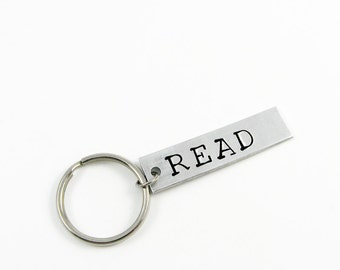 Librarian Gift - Keychain with READ in Large Font for Reader, Bookworm, Book Lover