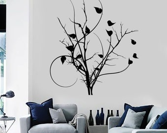 Wall Vinyl Decal Birds Tree Nature Branch Bedroom Guaranteed Quality Decor 2092di