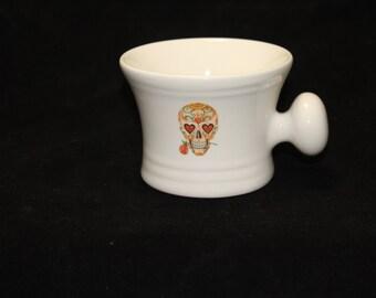 Rose Day of the Dead - Sugar Skull - Dia De Los Muertes- shaving mug