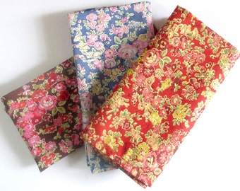 "Floral Liberty print Pocket squares  in  ""Tatum""  -3 colourways available ~- pochette . hankerchief , pocket square"