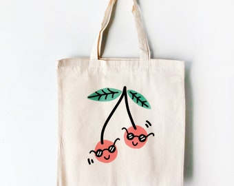 Cool Cool Cherries Canvas Tote Bag