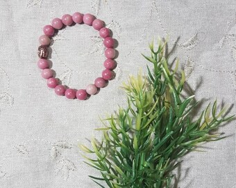 Heal Your Heart Bracelet~Rhodonite; Mala