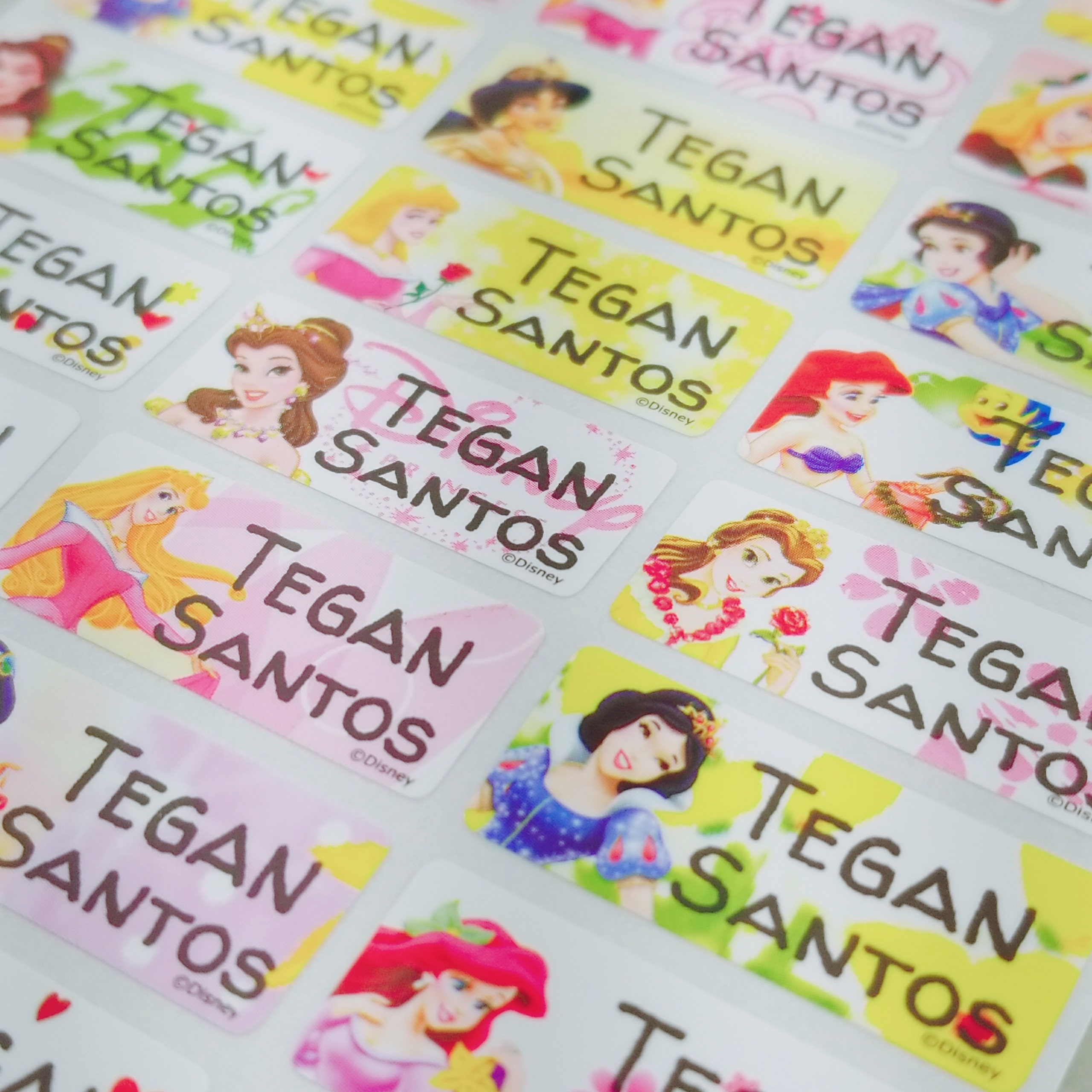 Name label school label waterproof label daycare stickers kids sticker labels gift stickers personalized waterproof label custom princess
