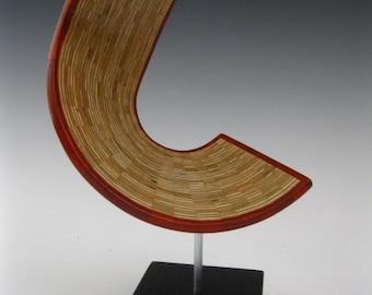 Modern Abstract  wood sculpture