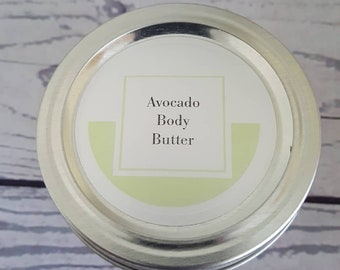 Body butter with avocado oil & essential oils