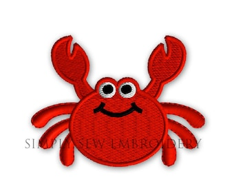 Crab Mini Machine Embroidery Design No. 42