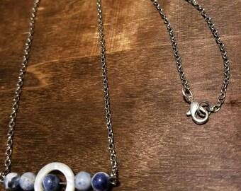Five Moon Bar Necklace