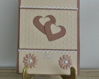 Card - marriage card Valentine's day - Yes and heart