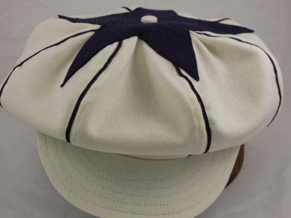 Philadelphia Athletics Vintage Base Ball team cap 1910s visor, leather or cotton sweatband, any size, custom made. Team discounts available.