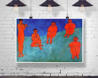 Matisse Poster Music Painting by Henri Matisse 1910 Music Poster Modern Oil Painting Matisse Painting Matisse Print Modern Art Print