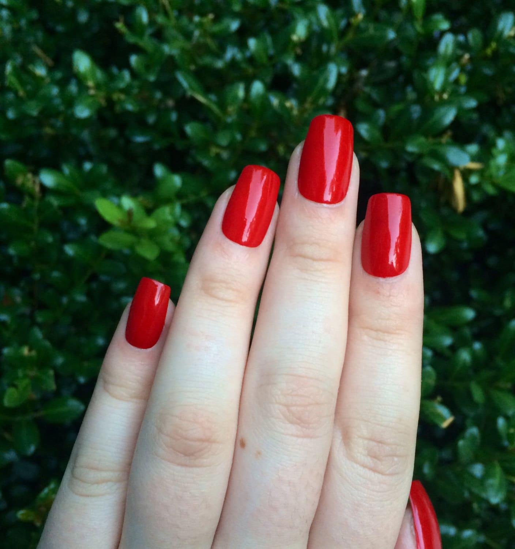 Perfect Red Square Acrylic Nails Mold - Nail Art Ideas - morihati.com
